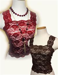 Lace Camisoles Cabernet & Chocolate Set