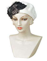 Louise Green Night Blooming Rose Beret