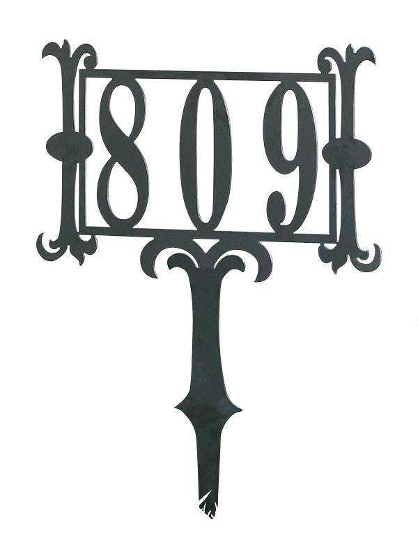 House number yard stake - House number signs for yard ...