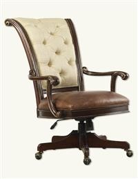 Tufted Linen Ladies Desk Chair