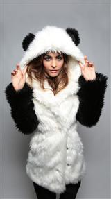 Faux Fur Panda Jacket