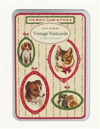 Christmas Cats & Dogs Vintage Postcards