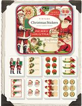 Vintage Victorian Christmas Stickers