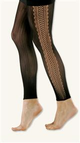 Illusion Lace Footless Tights