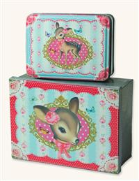 Little Doe Boxes (Pair)