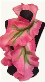 Rosepetal Dream Felted Wool Drape
