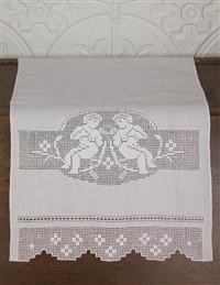 Victorian Drawn Work Guest Towel- Large