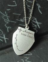 Poetic Pendant Necklace In Bell Jar Life Whispers