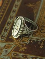 Victorian Oval Set Ring