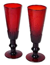 Ruby's Toast Champagne Flutes (Pair)