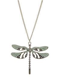 Dragonfly's Demise Pendant Necklace