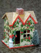 Village Snowman Cottage Box