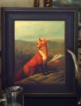 Hiding From Hounds English Painting
