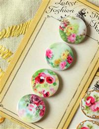 """Trimming Stones"" Floral Buttons Garden Variety"