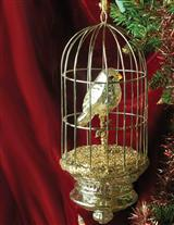 Silvered Aviary Ornament