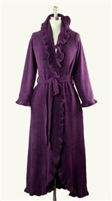 Aubergine Ruffled Robe