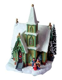 Northern Lights Chapel Music Box