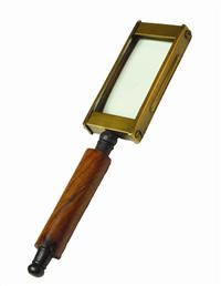 English Book Magnifier W/ Wooden Handle