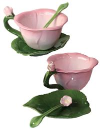 Tea Rose Cup, Saucer & Spoon Set