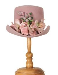 Louise Green Vintage Rose Rider Hat