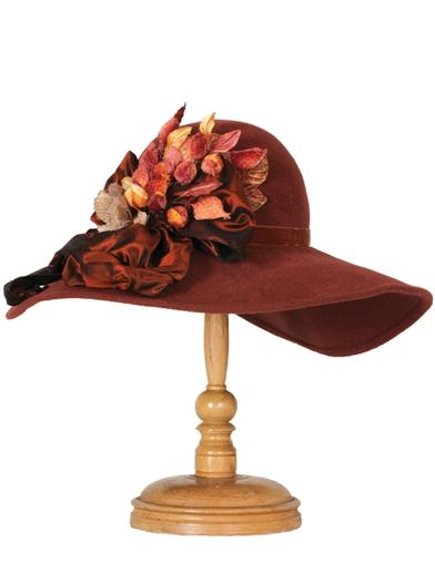 Edwardian Style Hats, Titanic Hats, Derby Hats Louise Green Hazel Hat $249.95 AT vintagedancer.com