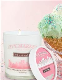 Ice Cream Parlour Candles Cherries Jubilee