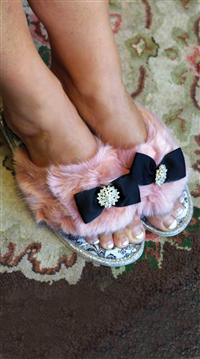 """Pretty You"" London Plush Luxe Slipper"