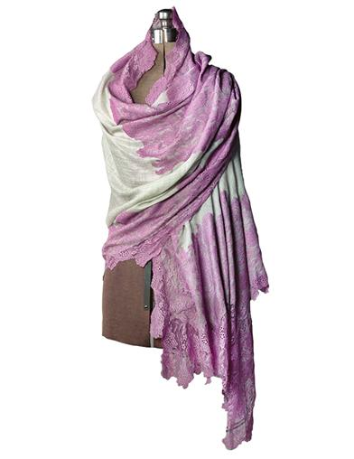 Victorian Inspired Womens Clothing Cashmere  Lace Wrap $99.95 AT vintagedancer.com
