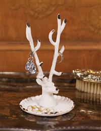Antler Ring Dish White