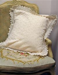 Lorraine Lace Pillow - Synthetic Fill