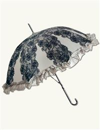Grey Chantilly Umbrella