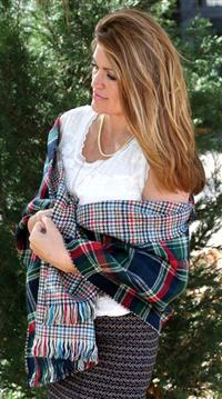 """Dublin Calling"" Reversible Plaid Wrap"