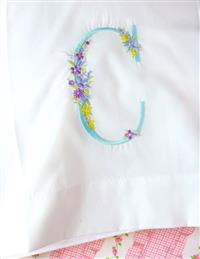Cottage Garden Monogram Pillowcase