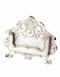 Antique White Baroque Card Holder