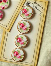 """""""Trimming Stones"""" Floral Buttons Beauties"""