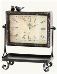 Rustic Clock With Tray