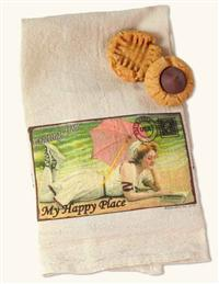 Postcard Towel My Happy Place