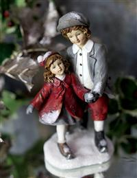 Jack And Jill Ice Skater Figurines