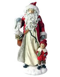 On A Winter's Eve Santa Figurine