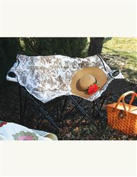 Brown Toile Tete A Tete Lawn Chair