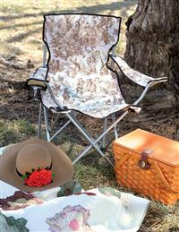 Glamping Brown Toile Lawn Chair