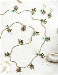 Flock Of Swallows Necklace & Earrings