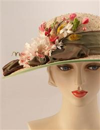 Louise Green Belladonna Boater Hat