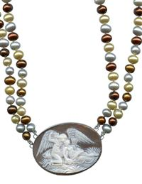 Cupid's Whisper To Psyche Cameo Necklace