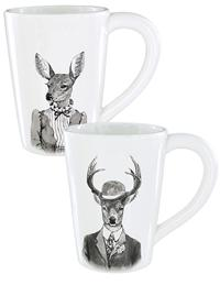 Beau Menagerie Mugs (Pair)