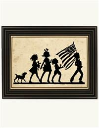 Stars & Stripes On Parade Silhouette