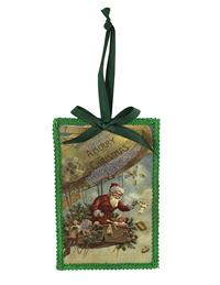 Aviator Santa Ornament