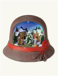 Ladies Cloche Hat Christmas Music Box