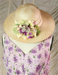 Orchid Straw Hat