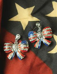 Betsy's Bows Flag Earrings
